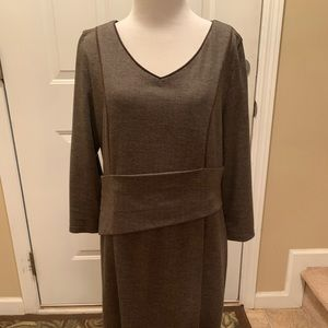 Brown Tweed Impression Dress The Limited